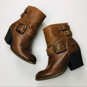 Lucky Brand Tommie Brown Genuine Leather Boots 7.5